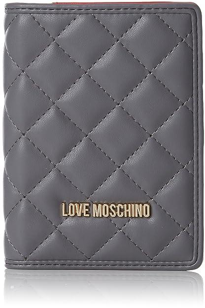 Portafogli Nappa Pu Grigio, Womens Clutch, Grey, 1x14x10 cm (B x H T) Love Moschino