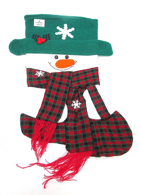 WeGlow International WGI Snowman Stocking Pack of 2 Red and Green