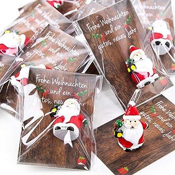 Geschenke Zu Weihnachten.20 Kleine Mini Geschenke Santa Nikolaus Weihnachtsmann Rot Weiss Grun Mit Karte Give Away Mitgebsel Weihnachten Prasent Kunden Kollegen Mitarbeiter