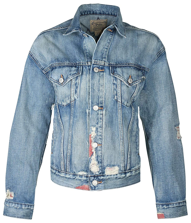 0420c1217e Polo Ralph Lauren Women s Denim Stars Jacket-Blue at Amazon Women s Coats  Shop