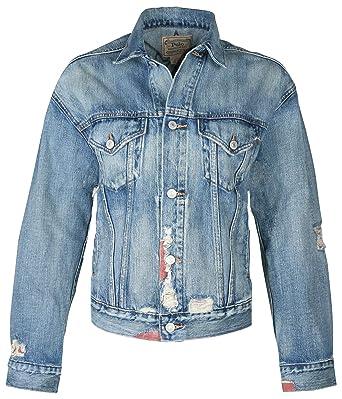 b8936736446 Polo Ralph Lauren Women s Denim Stars Jacket-Blue at Amazon Women s Coats  Shop