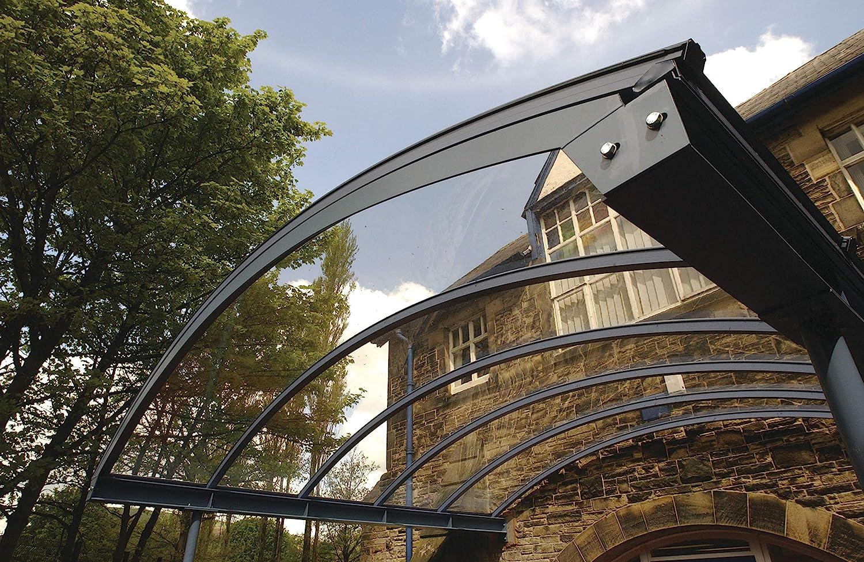 protege contra los rayos UV Placa de policarbonato compacta de 4 mm transparente 400 x 400 mm