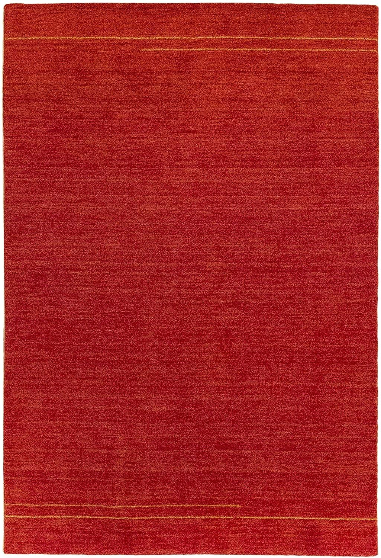 HAMID moderner Teppich Gabbeh – wollteppich Farbe rot (170x240cm)
