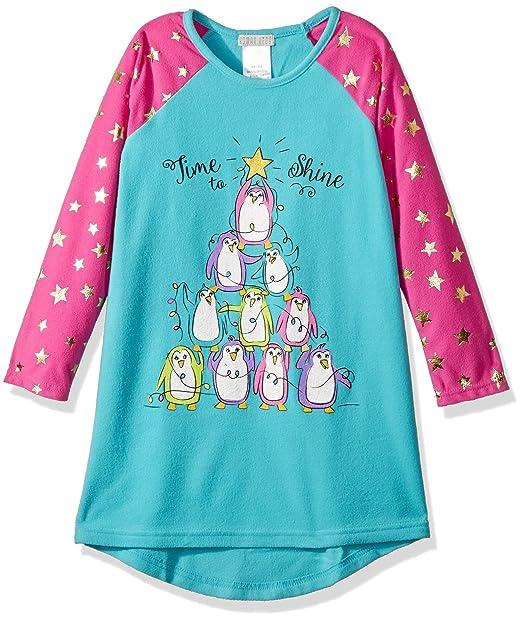 Komar Kids Niñas Penguin Tree Nightgown Bata para Dormir: Amazon.es: Ropa y accesorios