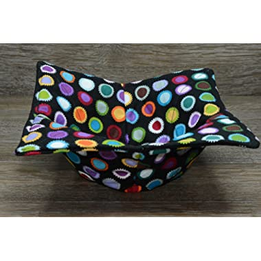 Microwave Bowl Cozy//Medium Bowl Cozy//Circus Dots