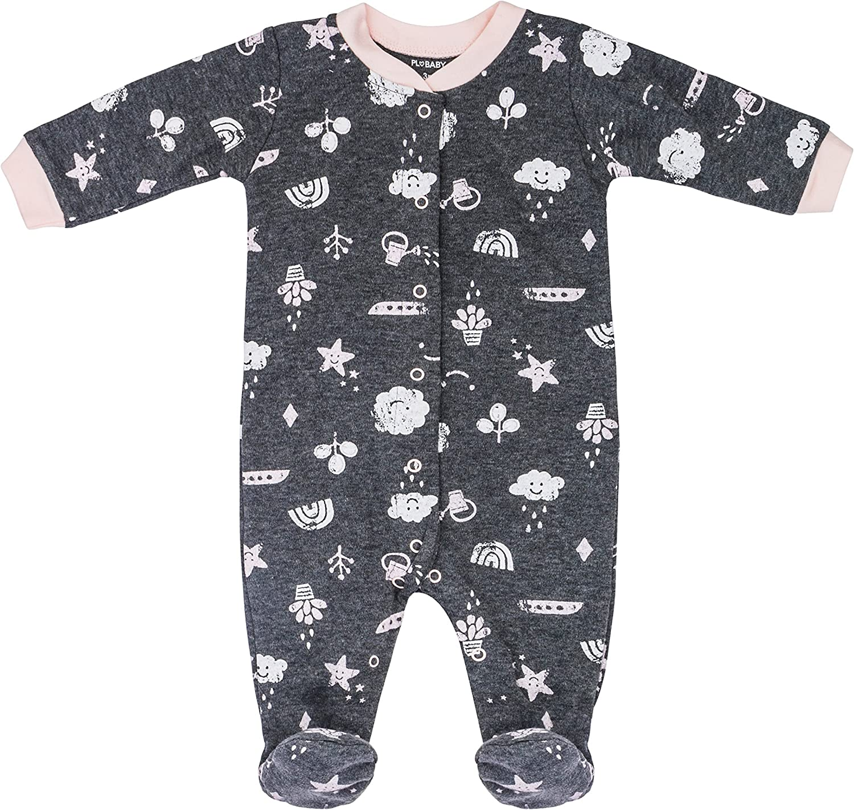 Onesie Bib Petit Lem Baby 4-Pc Pajama Set Footie Hat or Bow