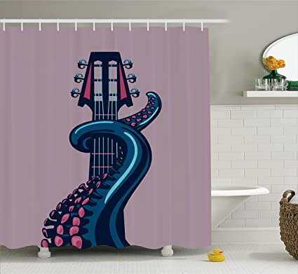 Amazon Com Ambesonne Octopus Decor Shower Curtain Tentacle Is