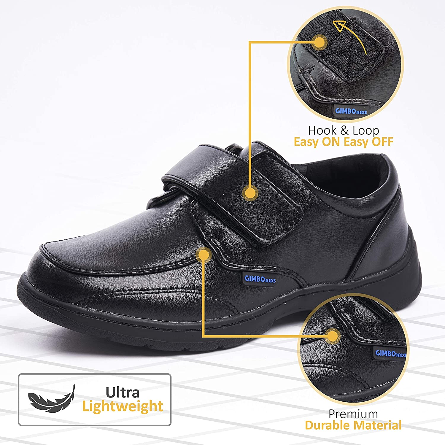 Uniform Dress Shoes for Boys Black Mary Janes School Shoes for Girls