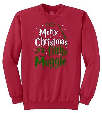 merry christmas ya filthy muggle ugly sweater medium red
