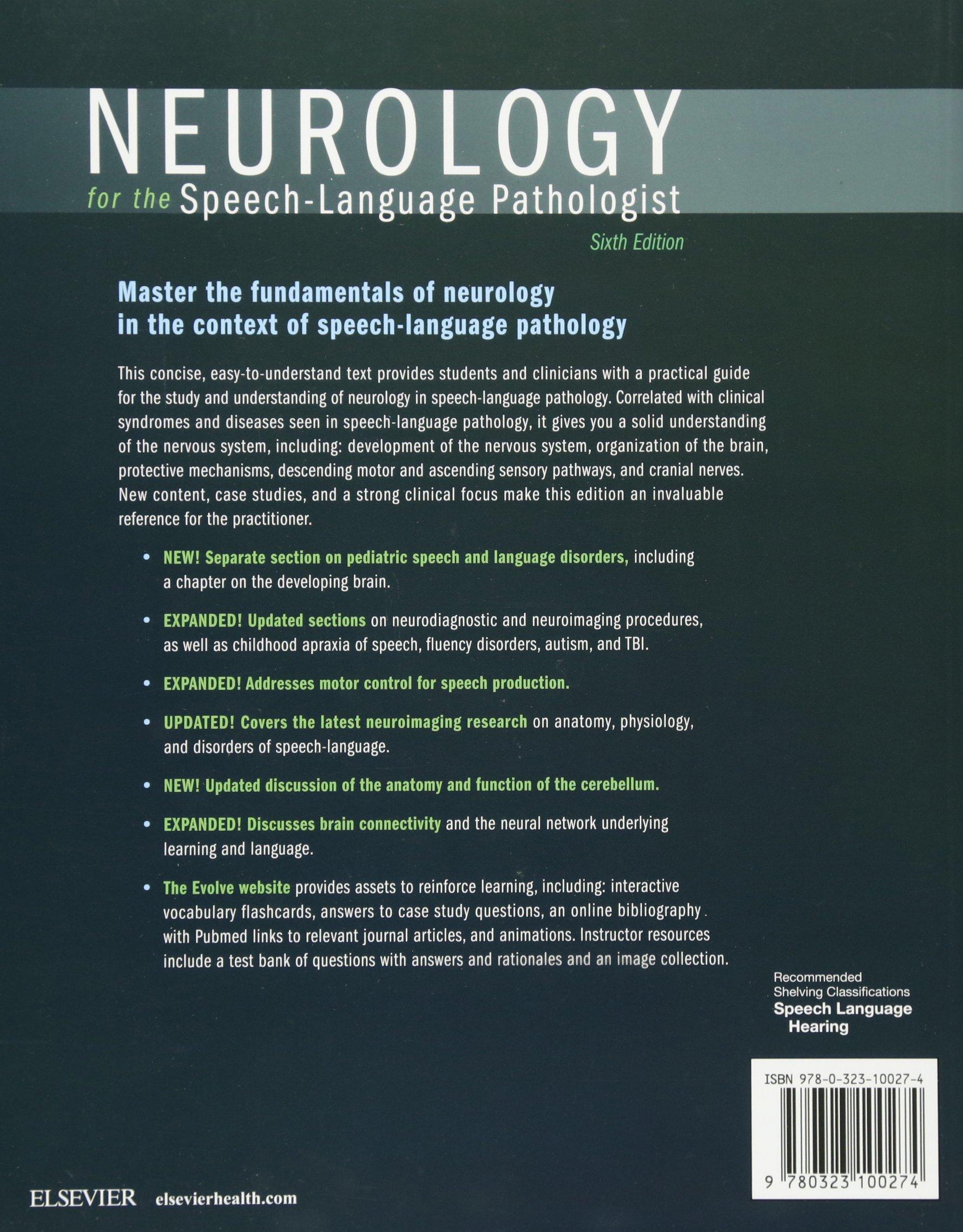 Neurology for the Speech-Language Pathologist, 6e: Amazon.co.uk ...