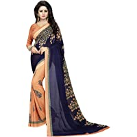 Indira Designer Georgette Saree with Blouse Piece