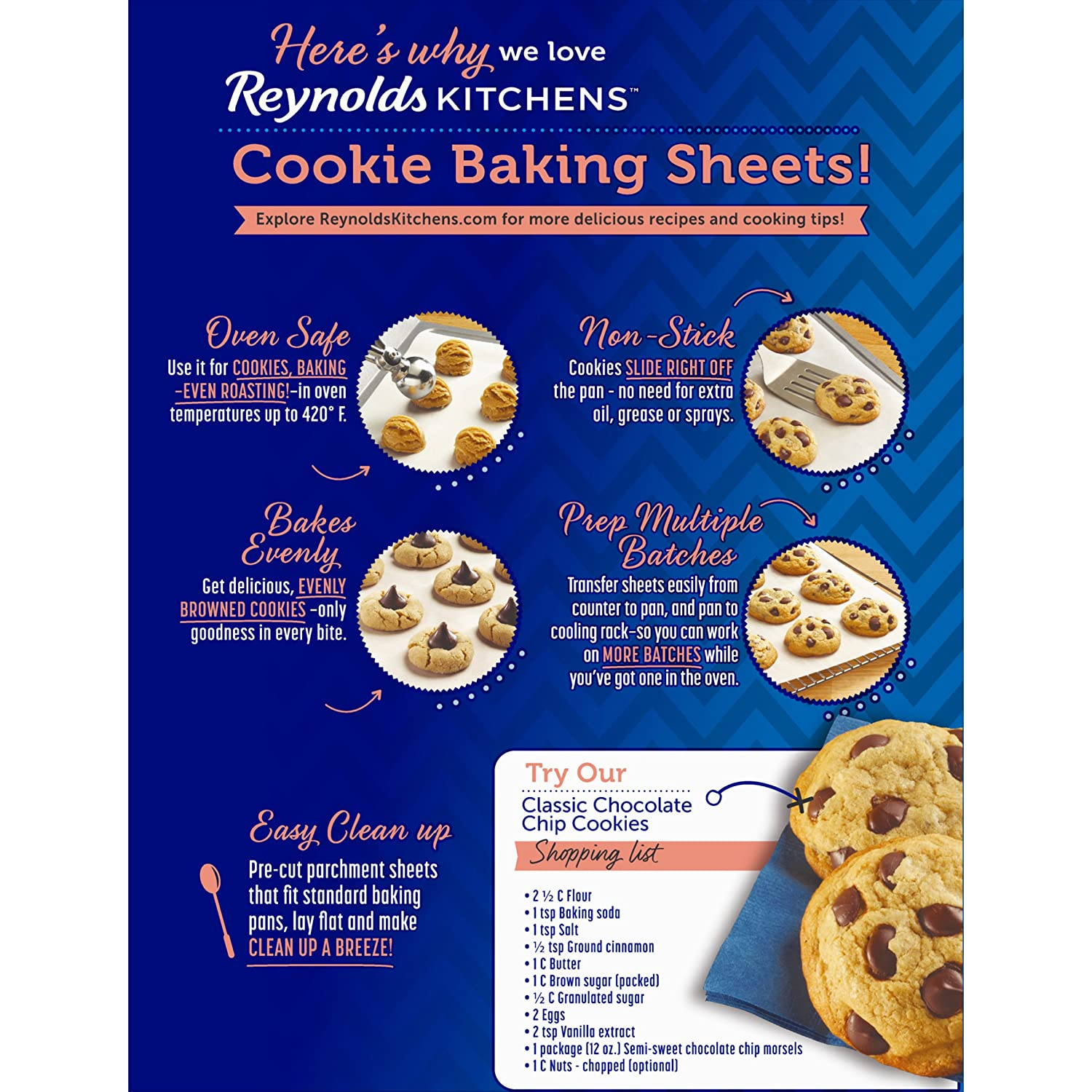 Amazon.com: Reynolds Kitchens Cookie Baking Sheets Parchment Paper  (Non Stick, 22 Sheets): Health U0026 Personal Care