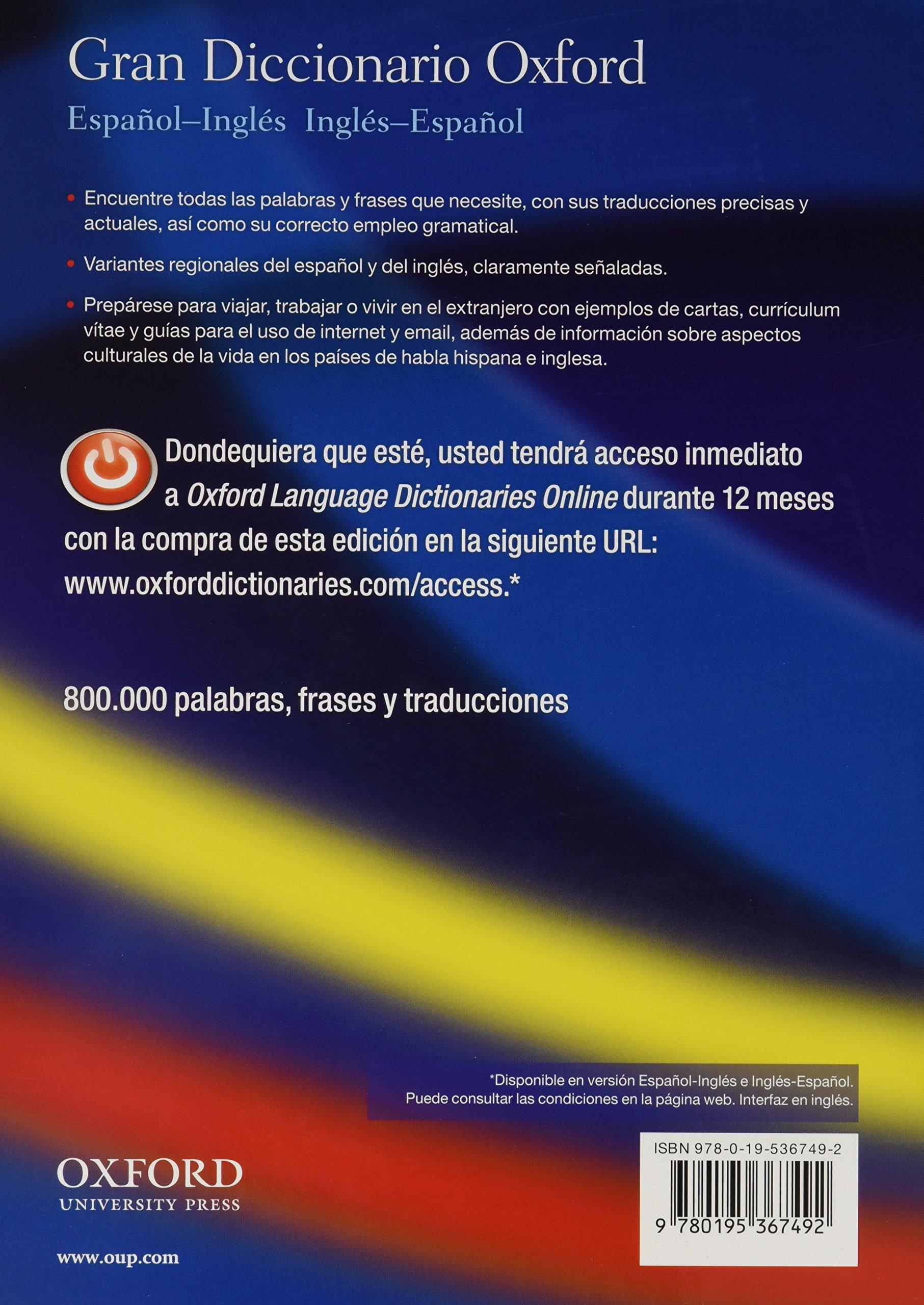 Gran diccionario oxford espa ol ingles ingles espa ol amazon co uk beatriz galimberti jarman 9780195367492 books
