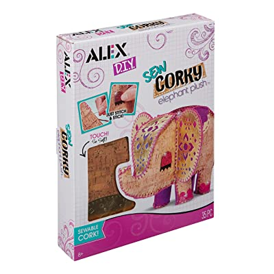 Alex DIY Sew Corky Elephant Plush Kids Art and Craft Activity: Toys & Games