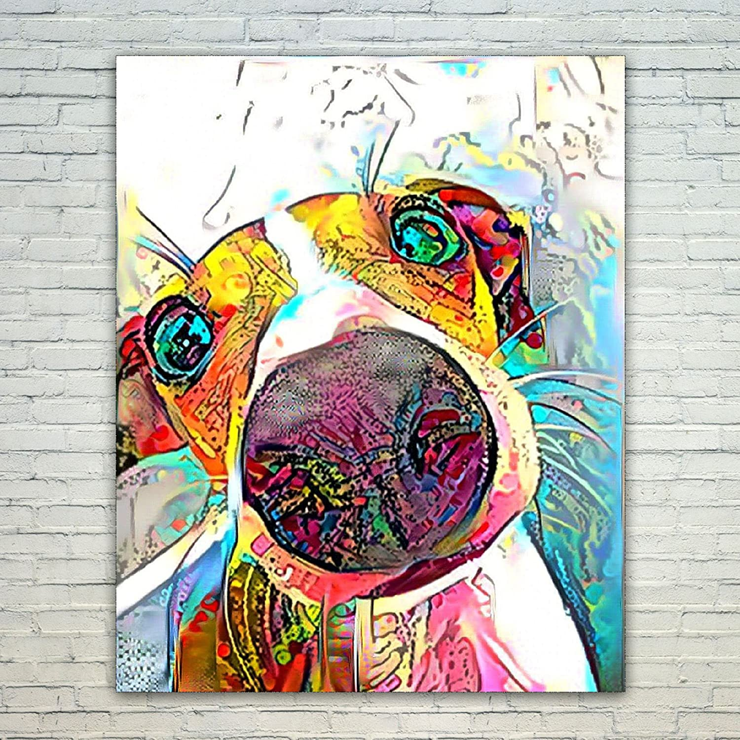 Greyhound Art Print Painting Poster Wall Art Picture Birthday Gift Gifts Xmas