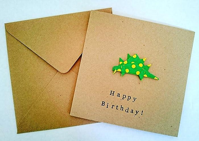 Origami Dinosaur Birthday Card Amazon Handmade