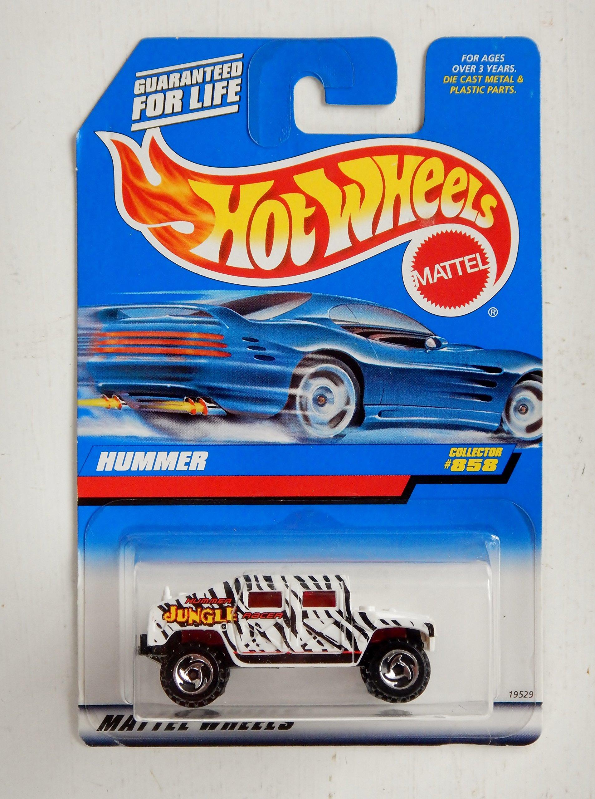 Mattel Hot Wheels 1998 1:64 Scale White & Black Hummer Die Cast Truck Collector #858