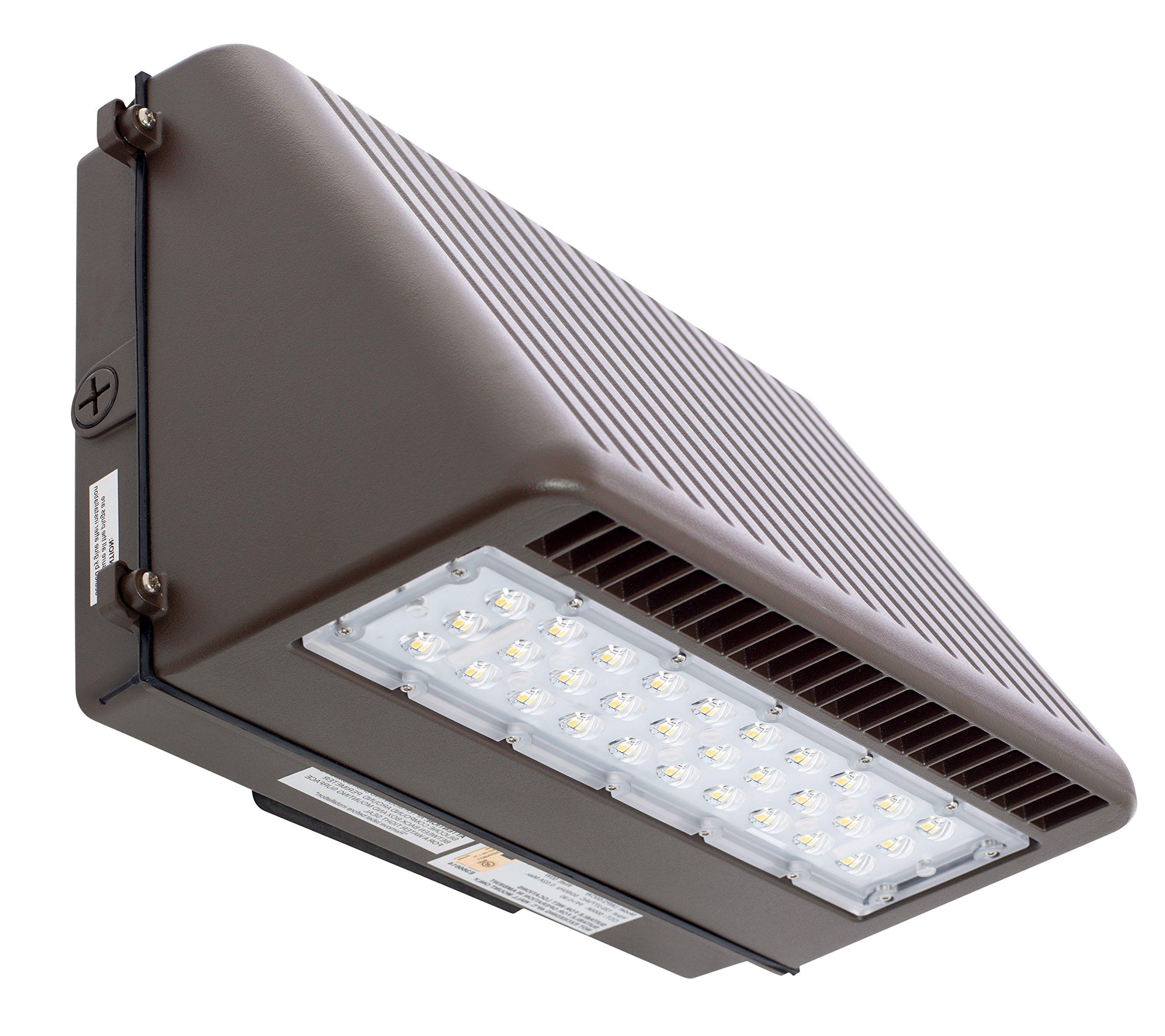 Westgate Lighting LED Wall Pack-Die Cast Aluminum Housing Full Cutoff LED Wall Pack-Wall Pack-Replaces HID Flood Lights-7 Year Warranty (50-Watts, 3000K Warm White)