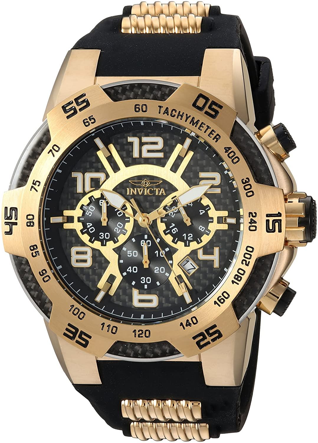 Invicta Men s Speedway Stainless Steel Quartz Watch with Silicone Strap, Two Tone, 30 Model 24233
