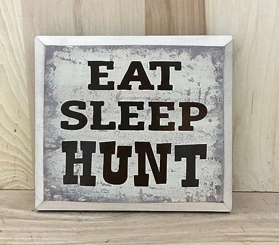 Amazon Eat Sleep Hunt Wood Sign Hunting Home Decor Deer