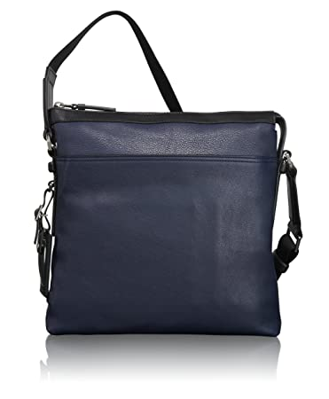 100% top quality hot-selling authentic hot products Tumi Mission Bartlett Leather Crossbody, Navy