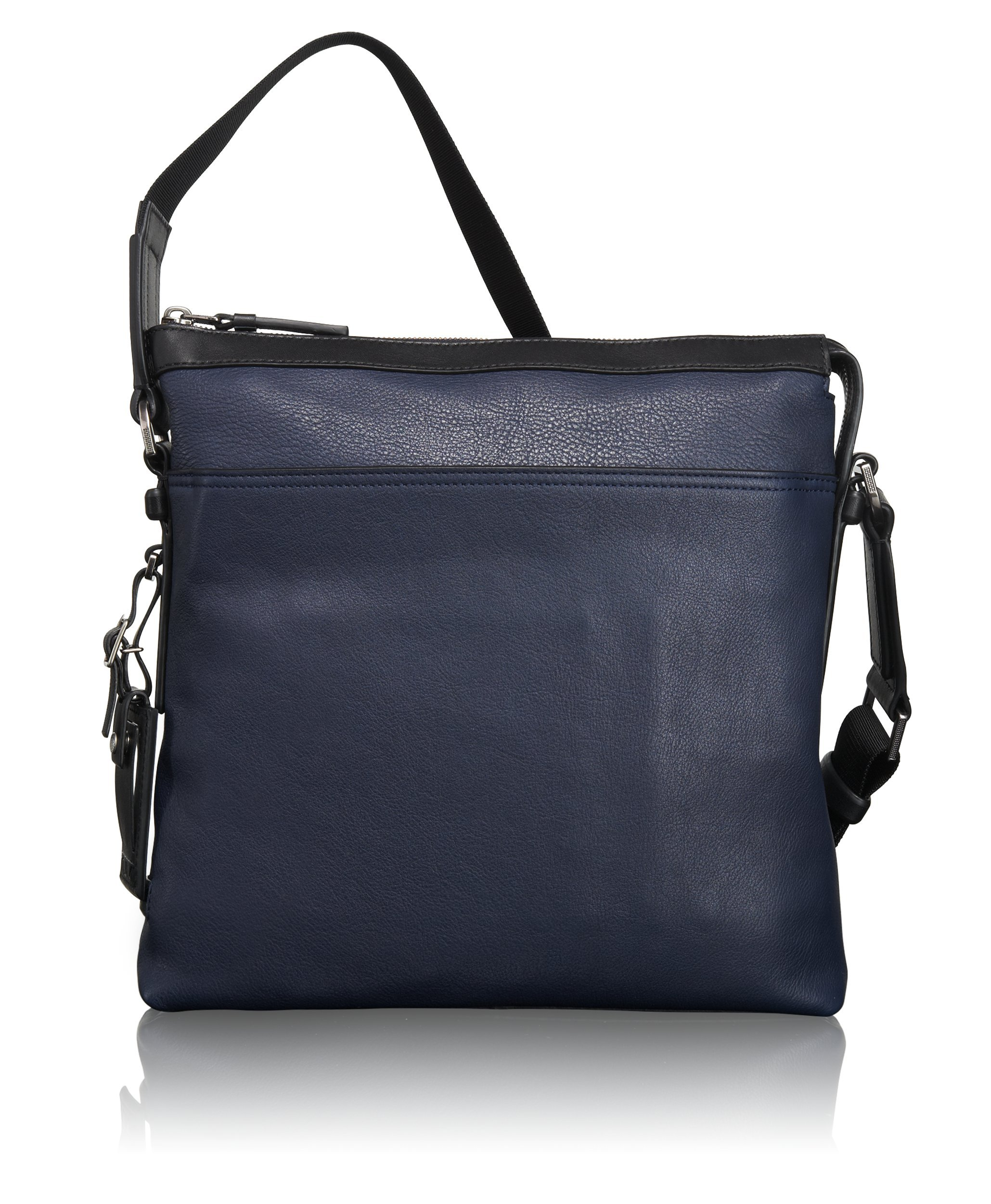 Tumi Mission Bartlett Leather Crossbody, Navy