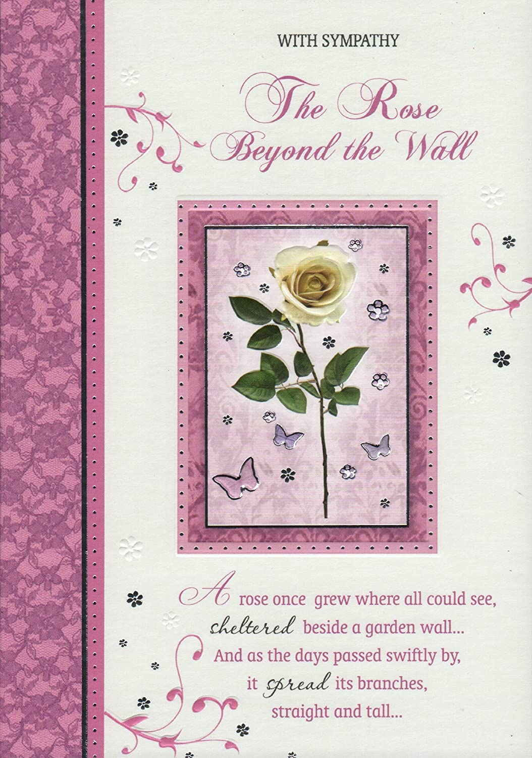 Sympathy Card With Sympathy The Rose Beyond The Wall Great