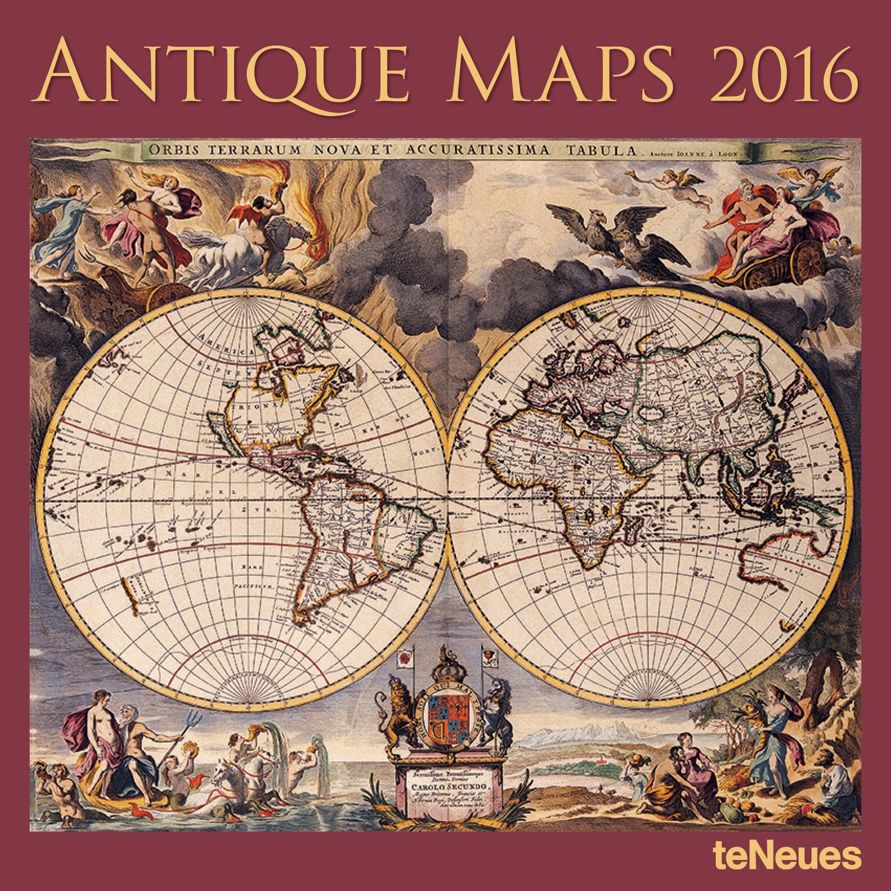 2016 antique maps wall calendar amazon teneues publishing books gumiabroncs Gallery