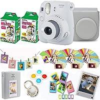 Fujifilm Instax Mini 9 - Cámara instantánea + película Fuji Instax 40 disparos + funda protectora + marco acrílico…