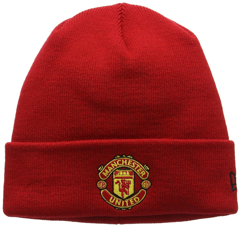 New Era Men's Manchester United Cuff Knit Hat Beanie Black (Team) One Size (Manufacturer Size:One)) 11213215