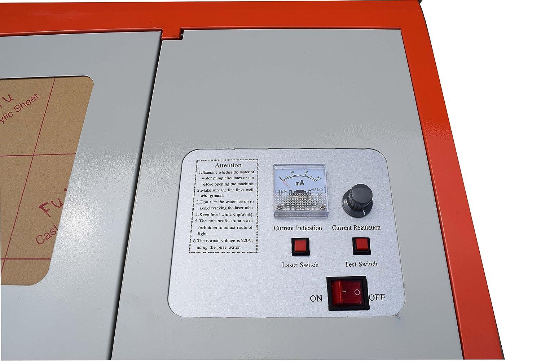 USB Laser de Grabado El/éctrica 40/W CO2/Laser Graveur 300/x Filtro degradado M/áquina de corte por l/áser con Fan de escape Puerto USB