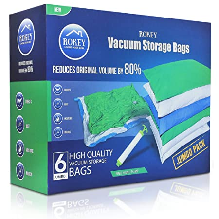 Vacuum Storage Bags Jumbo Large Size 6 Pack 110 X 80 Cm High Quality
