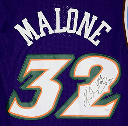 detailed look f0564 d7bd7 Karl Malone Utah Jazz Signed Autographed Purple #32 Jersey ...