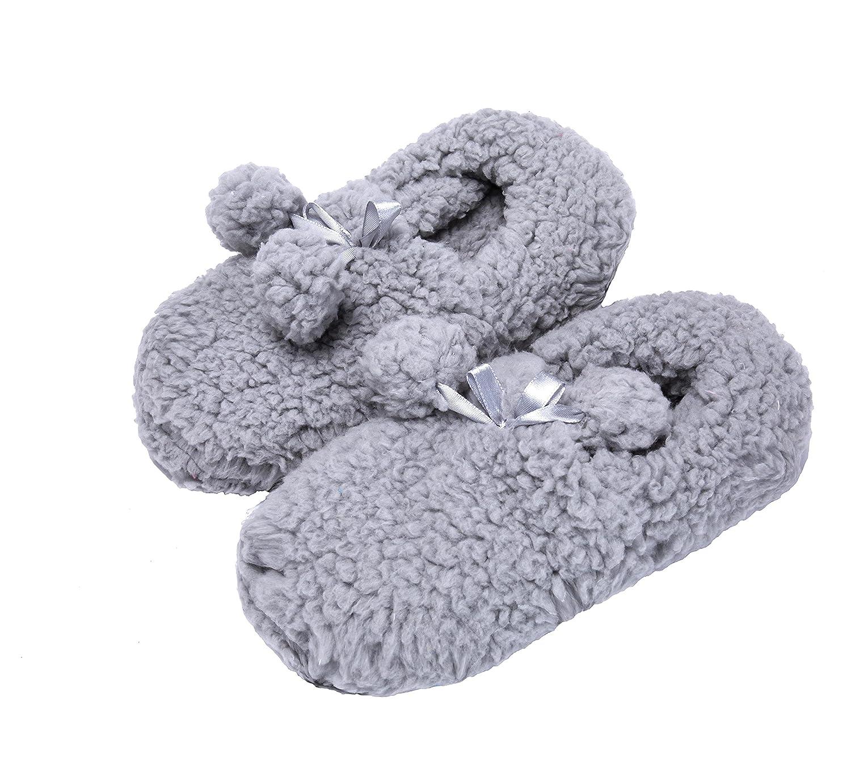 Fralosha las zapatillas calcetines W / ABS. (gris) pL2pk