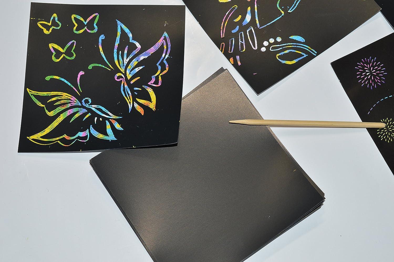 Unicorn Stencil Scratch Rainbow Magic Drawing Set