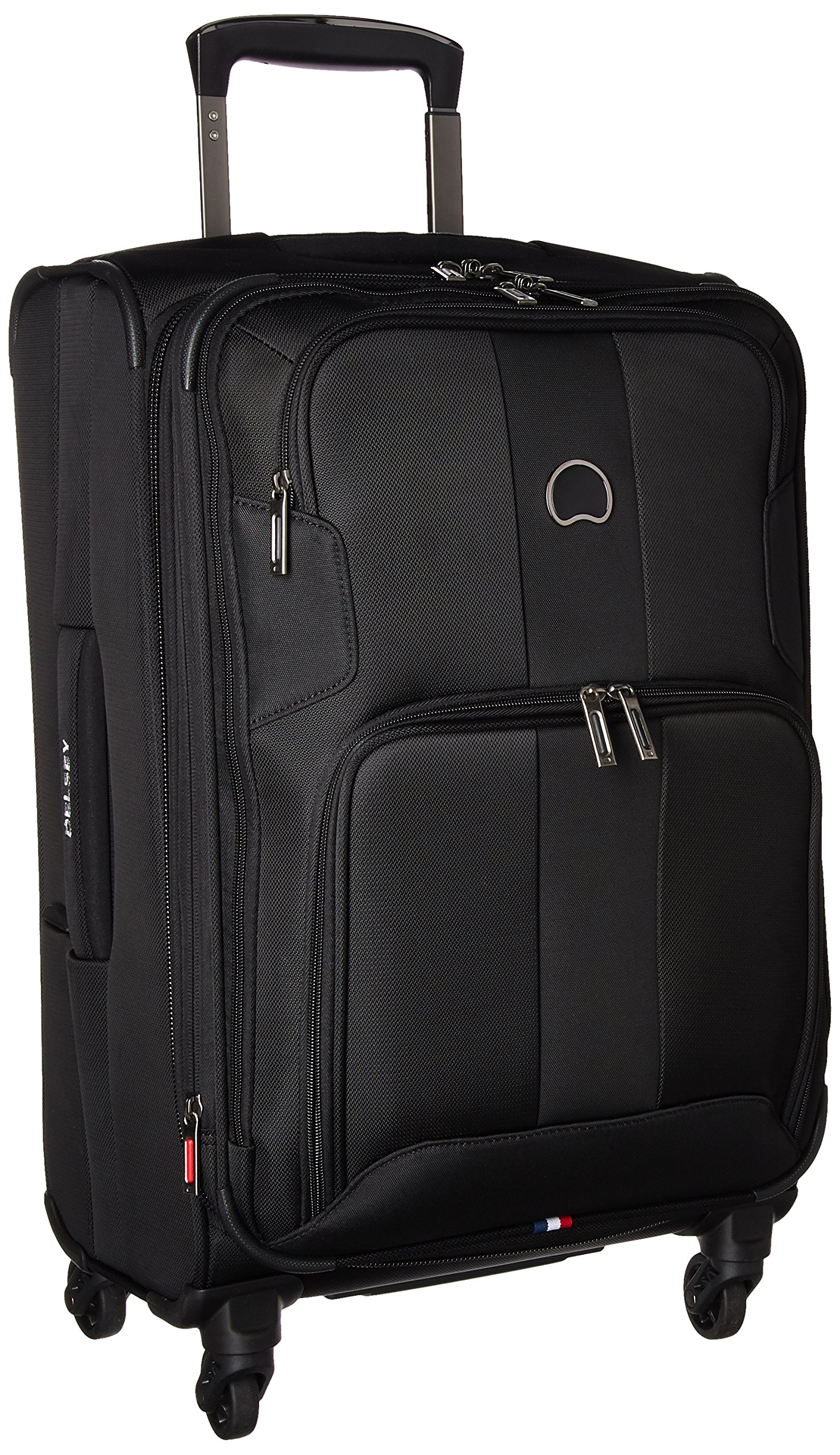 Sky Max 2.0 Softside Expandable Luggage with Spinner Wheels, Black, Carry-on 21 Inch,40328280500