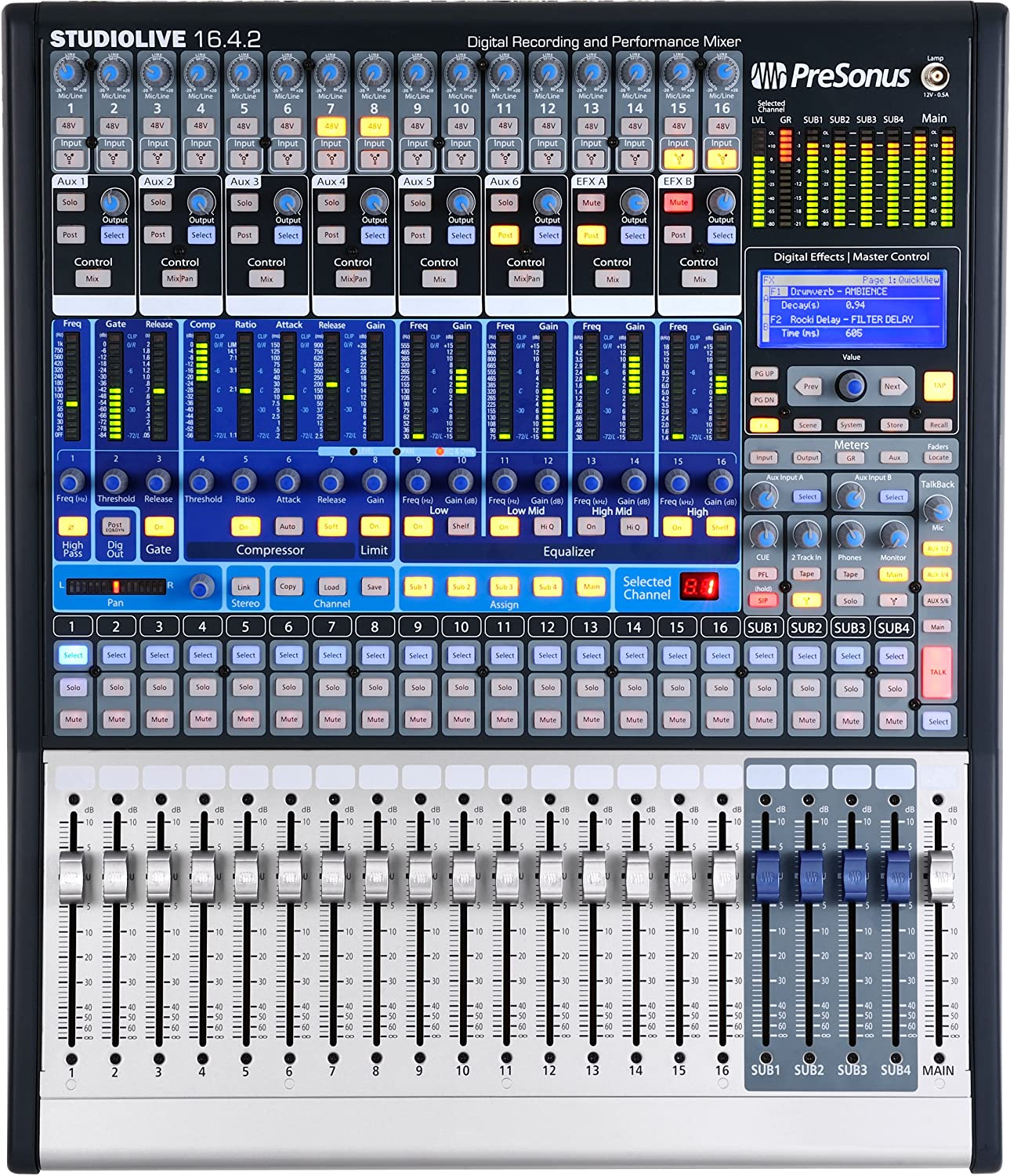 Presonus Studiolive 1642 16 Channel Performance And Audio Circuits July 2009 Amplifier Circuit Equalizer Mixer Recording Digital Musical Instruments