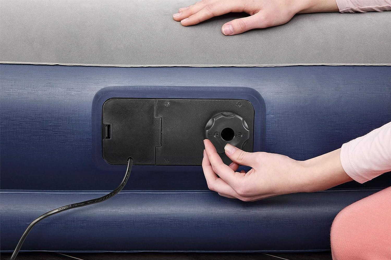 selbstaufblasendes Doppelbett mit App-gesteuerter Elektropumpe und integriertem Kopfteil Bestway Tritech Luftbett 203x152x46 cm