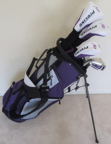 Ladies Left Handed Complete Golf Set Purple Lavender Driver, Fairway Wood, Hybrid, Irons, Putter, Clubs and Stand Bag Womens Clubs Set LH