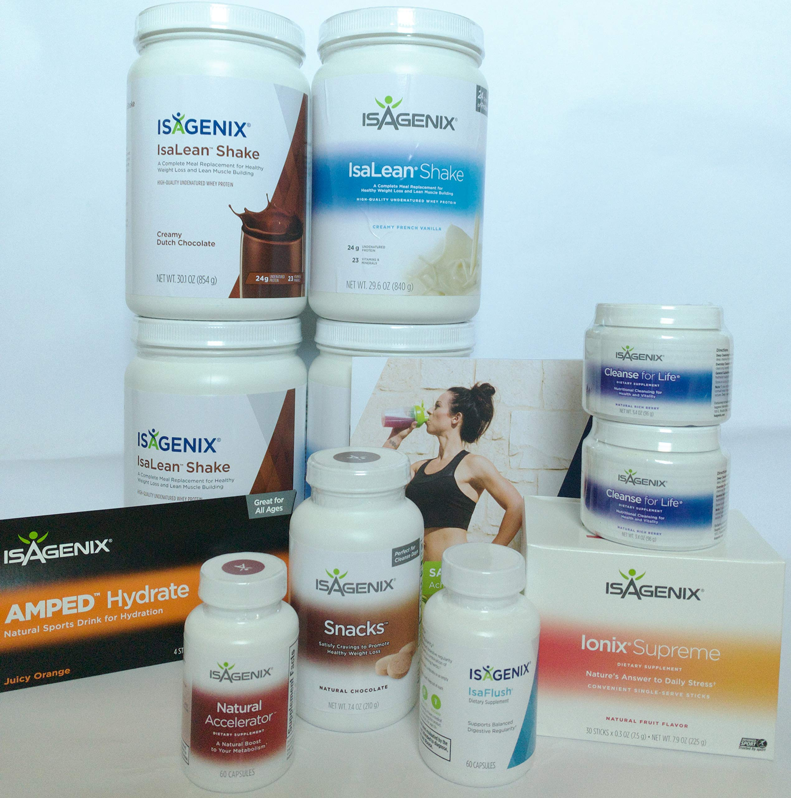 30 Day Weight Loss System with 2 Dutch Chocolate, 2 Creamy French Vanilla