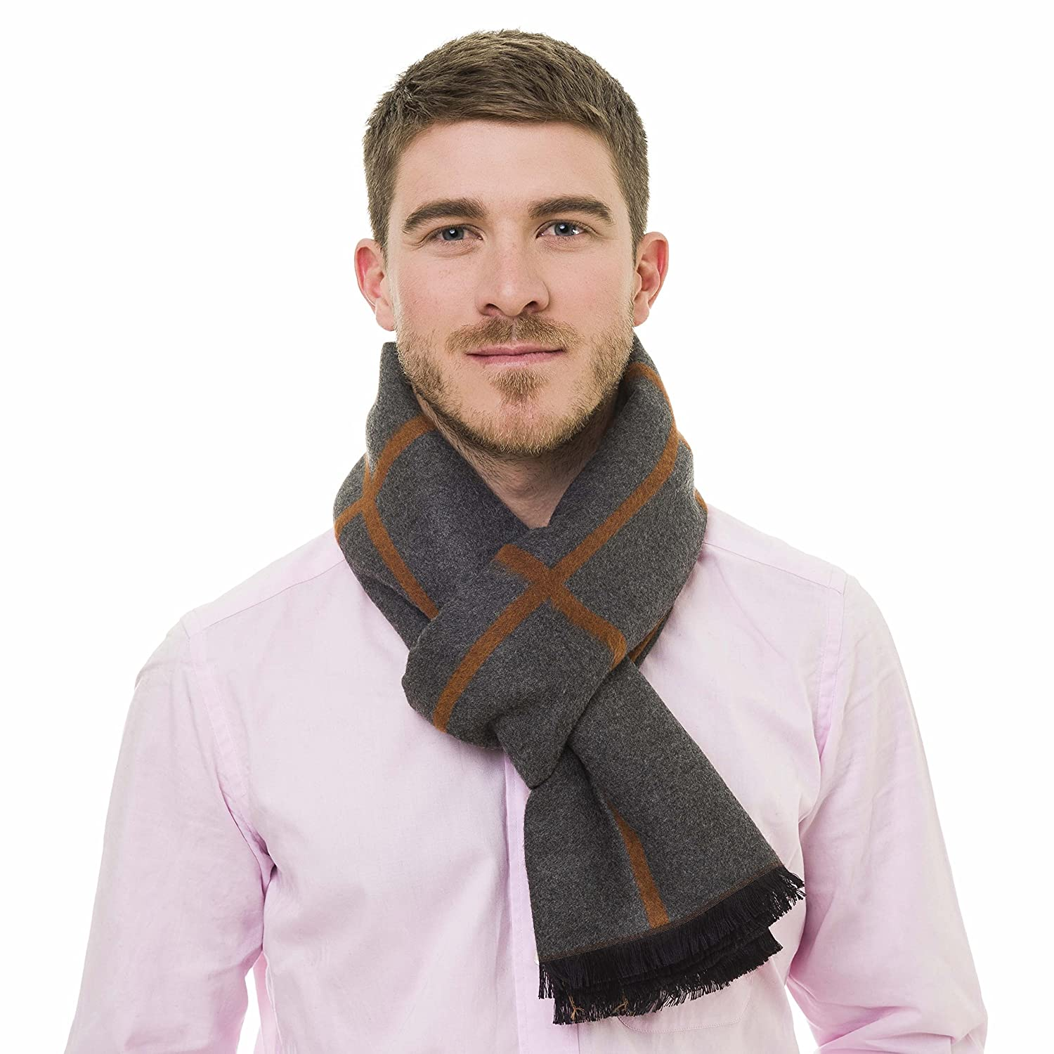 Scarf for Men Spring Winter Cashmere Man Soft Elegant Classic Scarves by Melifluos TA