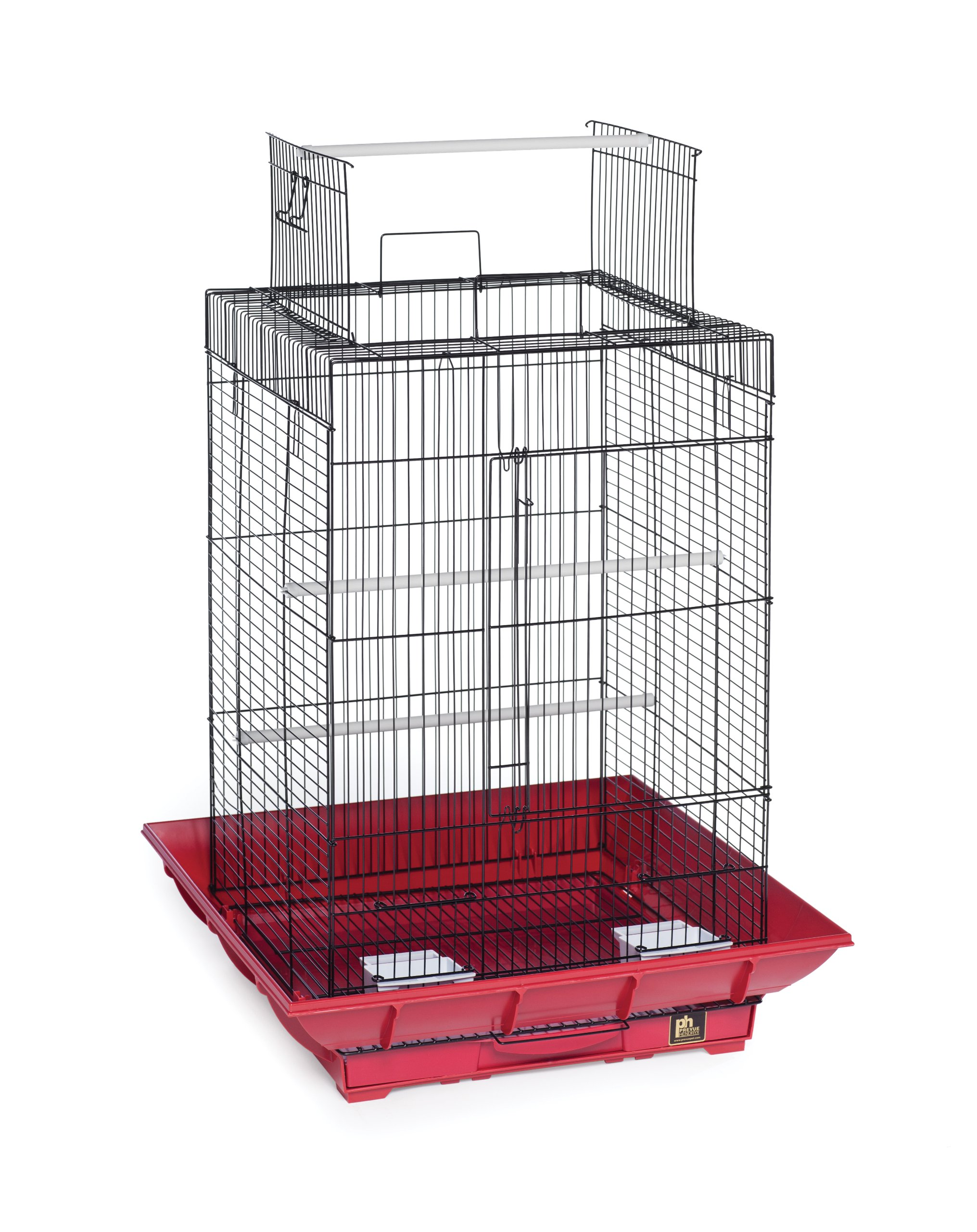Prevue Hendryx SP851R/B Clean Life Play Top Cage, Red and Black by Prevue Hendryx