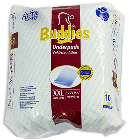 Amazon.com : Extra Large Chux Pads 36 x 36 Disposable - Overnight Incontinence Waterproof Underpad for Seniors, Adult, Child, or Pets by Buddies : Baby