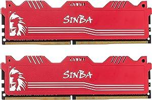 LEVEN SINBA 32GB KIT (16GBx2) DDR4 3000MHz PC4-24000 288-Pin U-DIMM CL16 XMP2.0 Overclocking Gaming RAM Desktop Memory Module- Gray (JROC4U3000172408G-16Mx2)