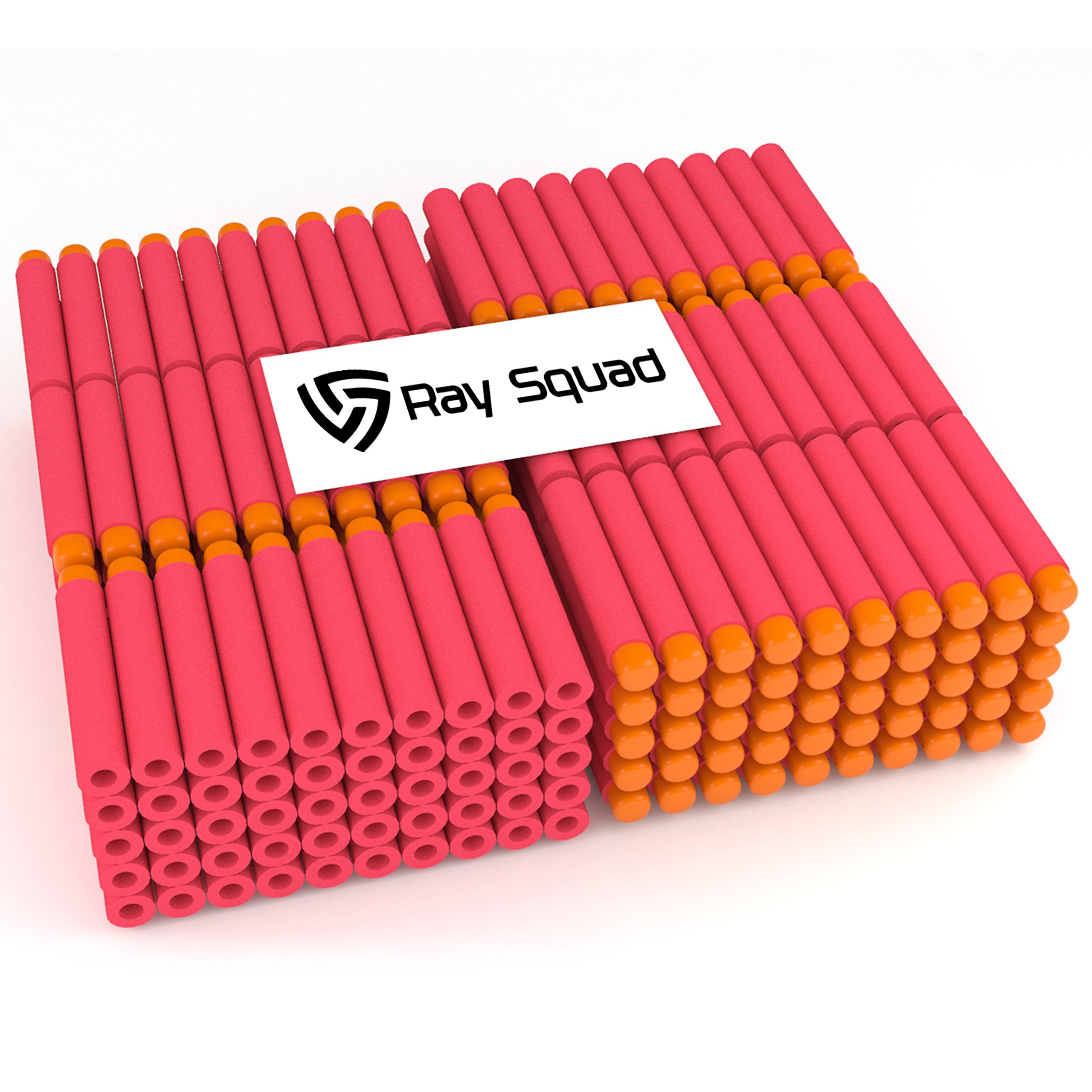 Red 300-Pieces Set, Ultimate Nerf Foam Toy Darts By Raytheon Toys, Premium Refill Bullets For N-Strike Guns, Universal Mega Pack, Firm and Safe Nerf Accessories Amazing Precision Control