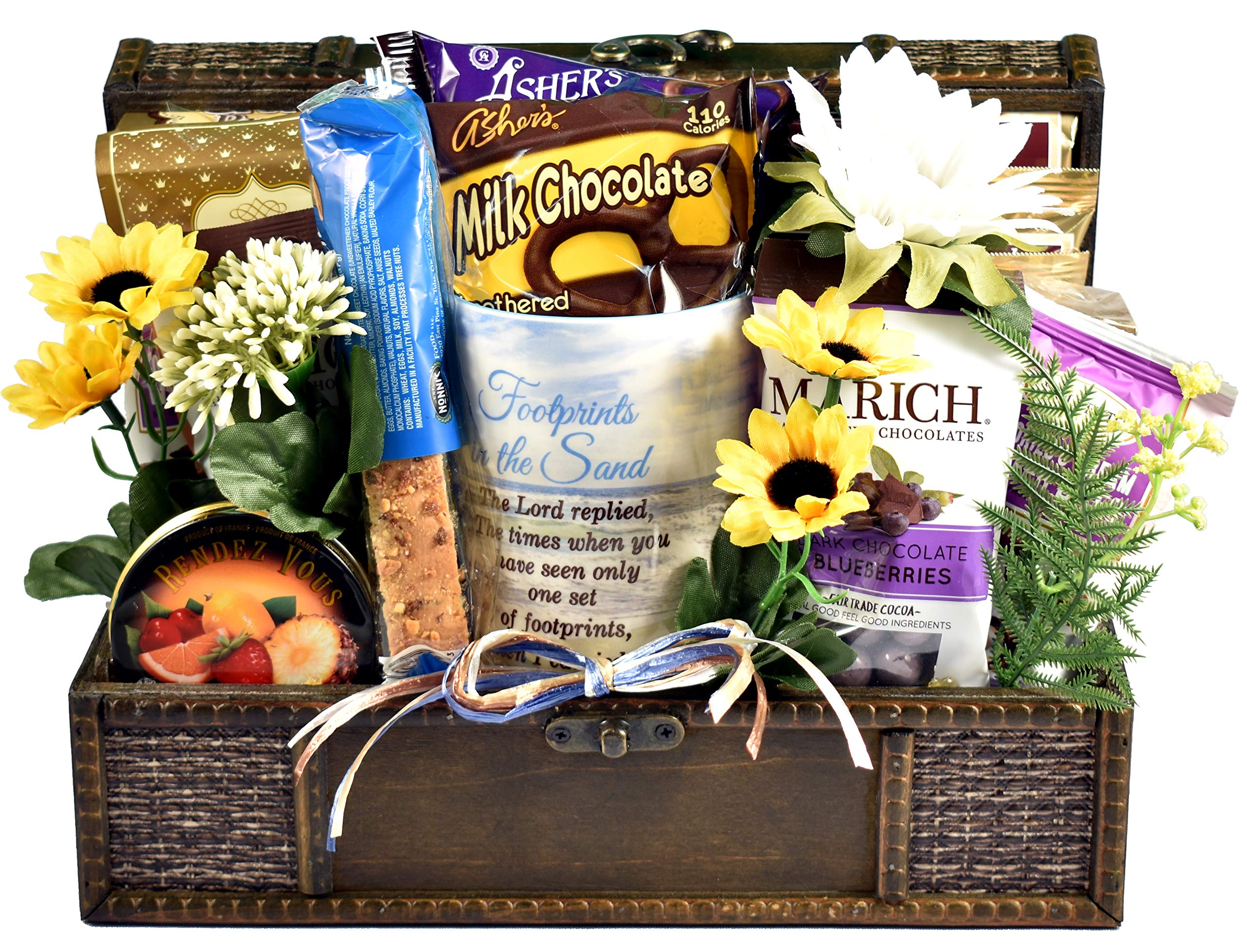 Gift Basket Village - Peace Be With You, An Uplifting Christian Gift Basket To Express Sympathy or Get Well Wishes