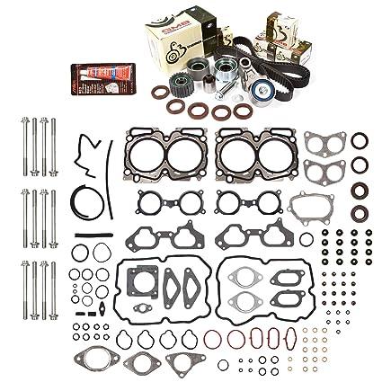 Evergreen HSHBTBK9013 Head Gasket Set Head Bolts Timing Belt Kit Fits 04-06 Subaru Turbo
