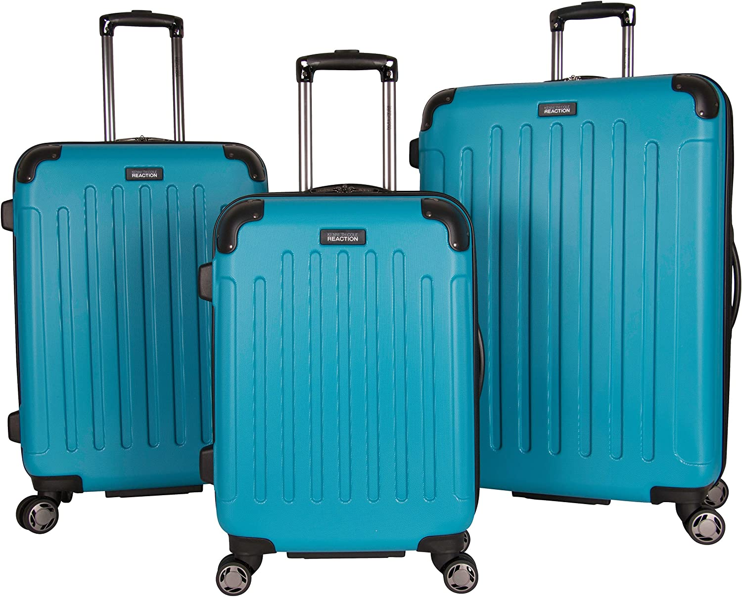 Kenneth Cole REACTION Renegade 28 Lightweight Hardside Expandable 8-Wheel Spinner Checked Luggage Black