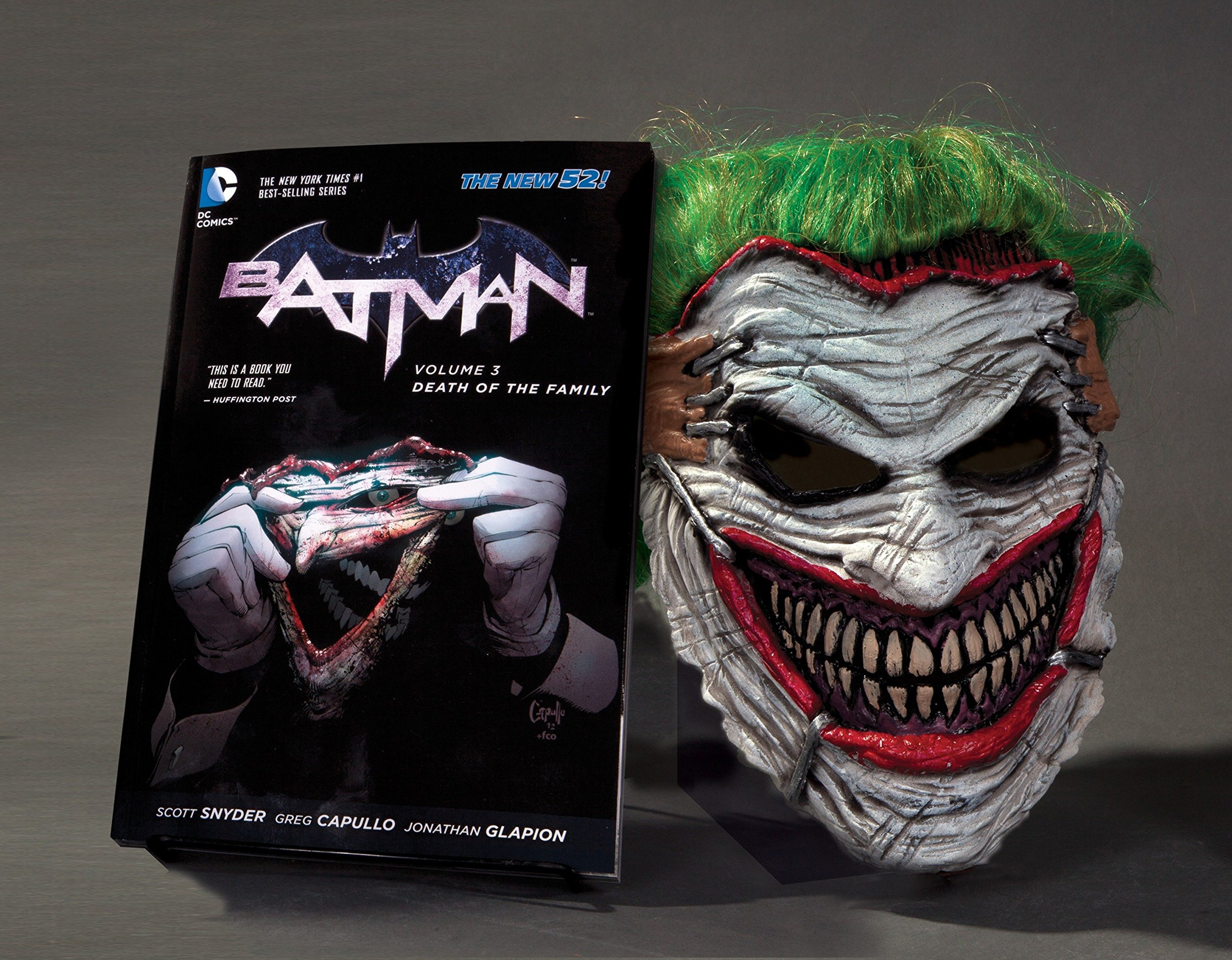 Batman: Death of the Family Book and Joker Mask Set by DC Comics