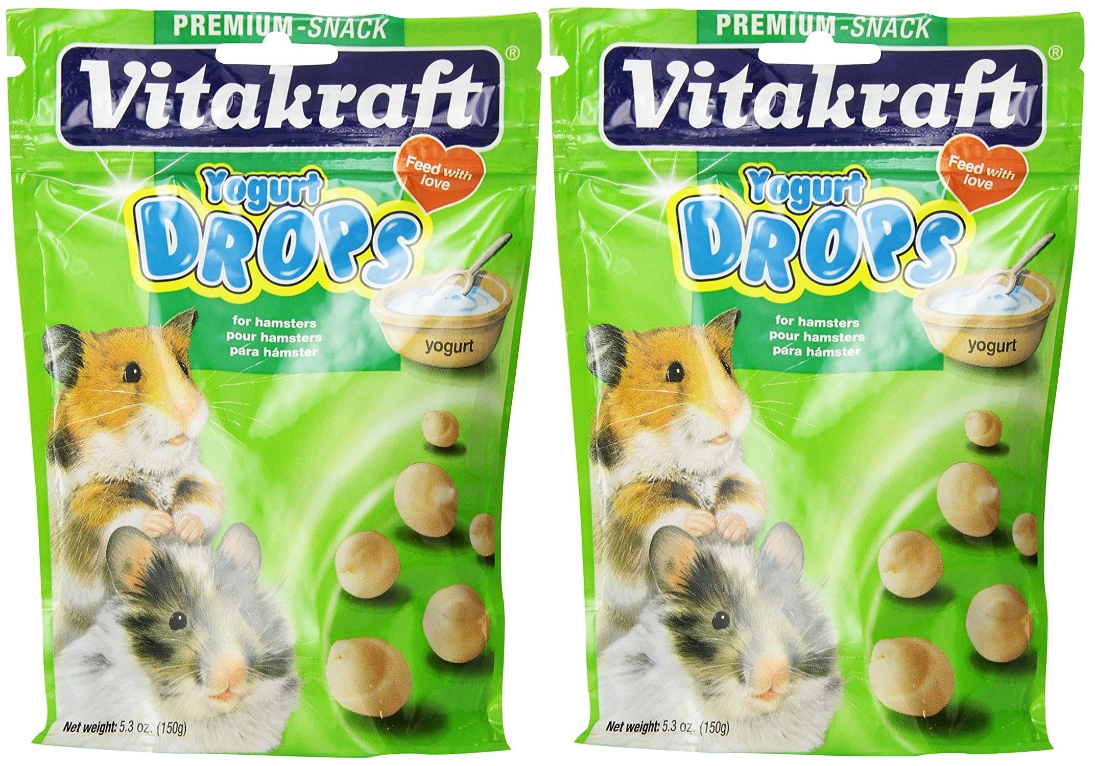 Vitakraft Yogurt Drops for Hamster Treat - 5 oz. [Set of 2] by Vitakraft
